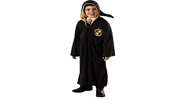Harry Potter niños Traje Capa Hufflepuff Negro - S: Amazon ...