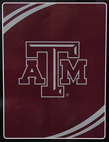 - NCAA Texas A&M Aggies Force Royal Plush Raschel Throw Blanket, 60x80-Inch