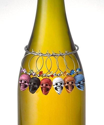 Prodyne W-7-S Skull Wine Charm Set Set of 6 ()