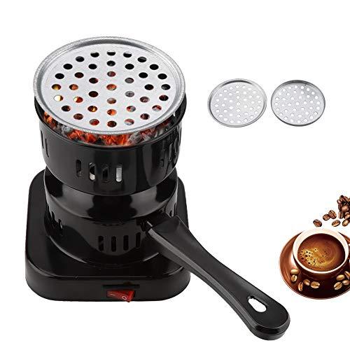 Electronic Charcoal Burner, Hookah Starters Hot Plate Stove Burner Black Carbon Heater for Tea Coffee Shisha Nargila (800W)((110v))