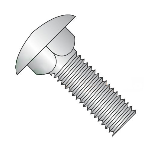 18-8 Stainless Steel Quantity: 100 pcs #10-24 X 1//2 Carriage Bolts//Fully Threaded