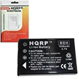 HQRP Battery Replacement for HP Photosmart R927, R937, R967 Digital Camera Plus HQRP Screen Protector
