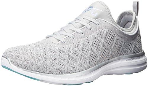 APL: Athletic Propulsion Labs Women's Techloom Phantom Running Shoe, Metallic Silver/Cosmic Grey, 10.5 M US