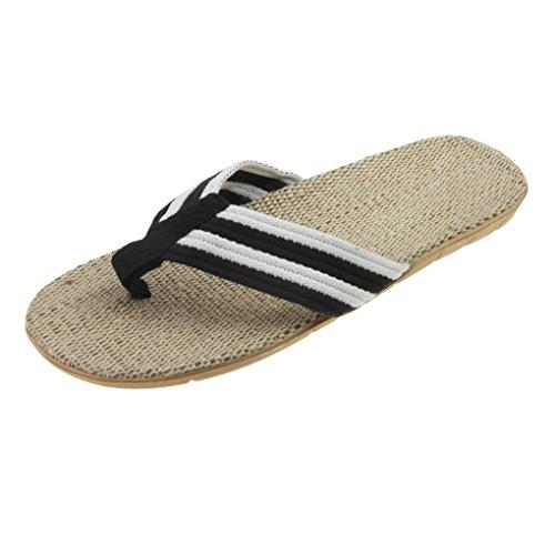 Mens Boys Slim Causal Wedge Platform Antiskid Flip Flops Thong Flat Sandals Beach Slippers Shoes