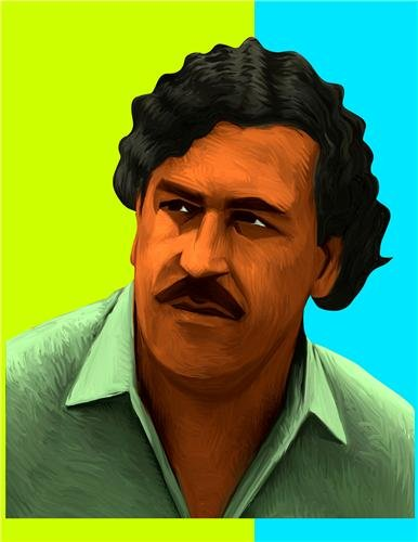 PABLO ESCOBAR ART GLOSSY POSTER PICTURE PHOTO colombia medellin cartel drug