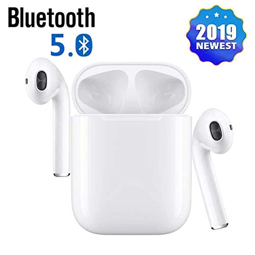 Bluetooth Headphones 5.0 Wireless Earbuds, 3D Stereo 24H Playtime Wireless Sports Headset, IPX5 Waterproof, Pop-ups Auto Pairing for Apple Airpods Android/iPhone Samsung (2019 New)