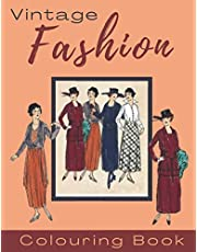 Vintage Fashion Colouring Book: 1920s Fashion Colouring Book for Adults
