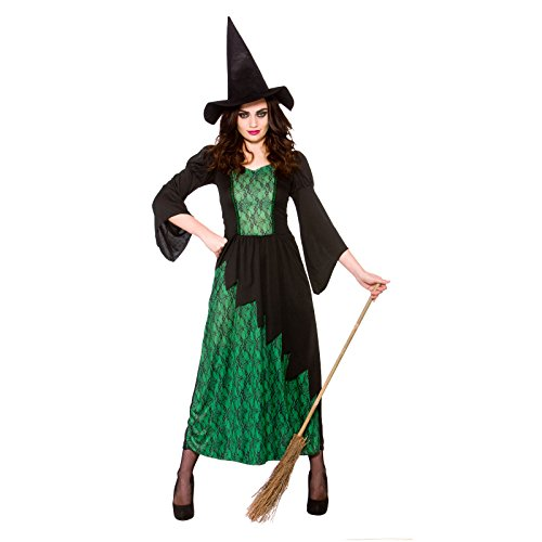 [Sorcerous Witch - Adult Halloween Costume Lady] (Witches Costumes For Adults Uk)