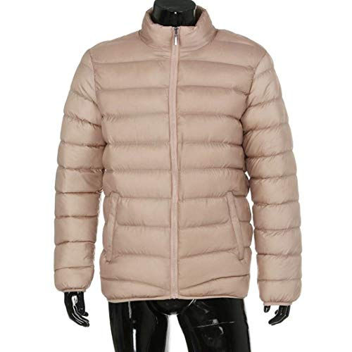 fashion Quilted Jacket Beige Coat Collar Down Long Fit Thick Jacket Coat Sleeve HX Parka Outerwear Warm Quilted Solid Winter Men Comfortable Sizes Clothing Slim Stand Color dxqw1yfR4