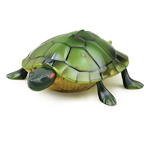Extpro Infrared Simulation Toys Remote Controlled Tortoise with Lighted Eyes Animated Animal RC Toys for Pets Kids ( Colors May Vary )