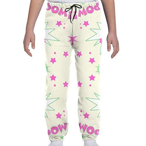 DHIAJSA Youth 3D Girl Power Wallpaper Joggers Pants Trousers Sport Track Sweatpants Baggy ()