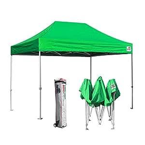 eurmax basic 8x12 ez pop up canopy tent entry commercial level w roller bag kelly. Black Bedroom Furniture Sets. Home Design Ideas