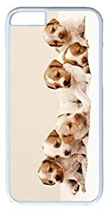 Animals Dog Cute Puppies Case for iPhone 6 Plus 5.5 inch PC Material White(Compatible with Verizon,AT&T,Sprint,T mobile,Unlocked,Internatinal) in GUO Shop