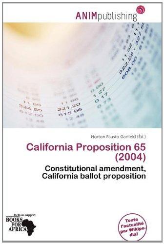 California Proposition 65 (2004)