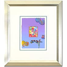 PETER MAX ORIGINAL Signed mixed media ACRYLIC PAINTING PROFILE SERIES FRAMED
