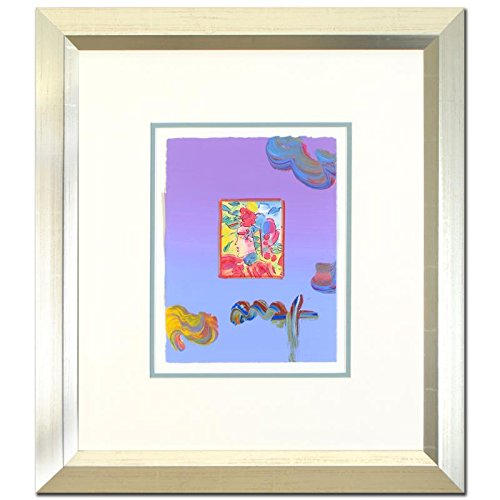 PETER MAX ORIGINAL Signed mixed media ACRYLIC PAINTING PROFILE SERIES FRAMED - Peter Max Painting