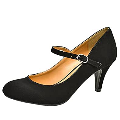 Sully'S Kaylee-H Mary-Jane Pumps-Shoes, Black Suede, 5.5