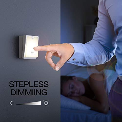 Motion Sensor Nightlight Warm White, Stick-Anywhere Closet Lights Stair Lights,Warm White Lights for Hallway,Bedroom, Kids Room, Kitchen, Stairway