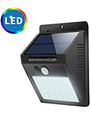 Solar Light Outdoor, STYLEAGAL 20 LED Solar Power PIR Motion Sensor Wall Light Outdoor Waterproof Garden Lamp for Outdoor, Garden, Patio Yard, Deck Garage, Fence, Driveway Porch