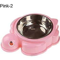 Pet Bowl, Cute Turtle Crab Print Pet Slow Feeding Bowl Dog Cats Eco-Friendly Feeder - Pink Turtle