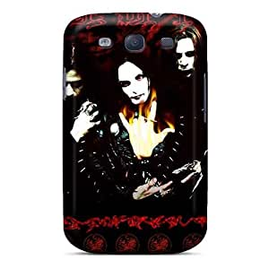 Shockproof Hard Phone Cases For Samsung Galaxy S3 With Custom HD Cradle Of Filth Band Skin JamieBratt
