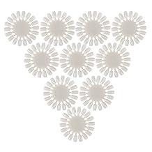 Jocestyle Professional 10 Pcs / Set Manicure Practice Round Wheel Nail Art Polish UV Gel Color Chart Display Card Tool