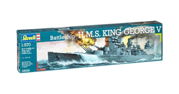 Amazon.com: Rey George Battleship V 1/570 Revell Alemania ...