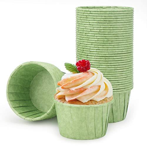 Cupcake Liners, Eusoar 50pcs 3.5oz Muffin Liners, Cupcake Baking Cups, Christmas Cupcake Liners Wrappers, Cupcake paper, Paper Cupcake Liners holder, Disposable Ramekins, Muffin Pan Baking Cups