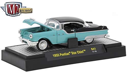 (M2 Machines 1955 Pontiac Star Chief (Valley Green & Raven Black) Auto-Thentics 10th Anniversary Release 41 - 2016 Castline Premium Edition 1:64 Scale Die-Cast Vehicle (R41 17-16))