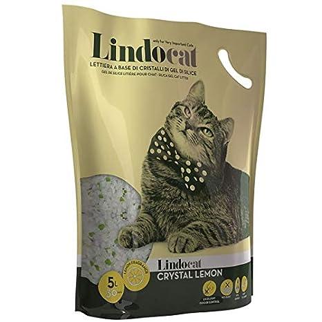 LINDOCAT - Arenero higiénico de Cristal Lemon, para Gatos, de 5 litros, a