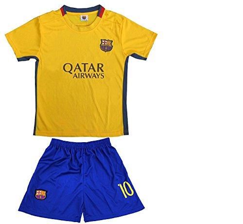 3394ef51e ... best price galleon 2015 2016 fc barcelona lionel messi 10 away football  soccer kids jersey short