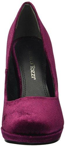 merlot Zapatos Mujer 22433 Rojo Velvet De Tozzi 555 Tacón Marco Para 48xOZ5