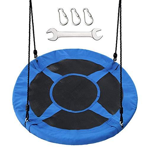 (Moonooda Saucer Nest Round Swing, Large 40 Inch Flying Tree Swing, Blue)