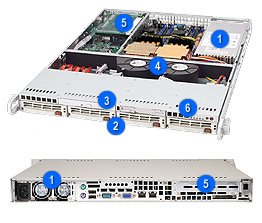 Supermicro CSE-813T-500CB Chassis (Black) by Supermicro