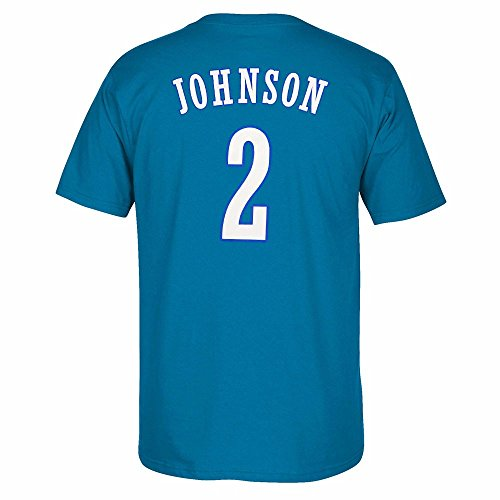 Blue Adidas Nba Jersey - Larry Johnson Charlotte Hornets NBA Adidas Men Blue Originals Player Name & Number Retro Jersey T-Shirt (XL)