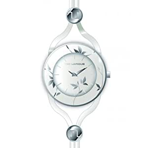Ted Lapidus Womens White Dial Leather Band Watch [A0525RAIF]
