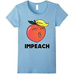 Womens Anti Trump T-Shirt - Funny Trump Impeachment Shirt Medium Baby Blue