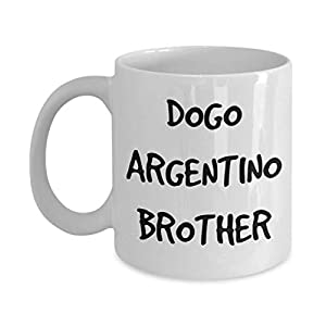 Dogo Argentino Brother Mug - White 11oz 15oz Ceramic Tea Coffee Cup - Perfect For Travel And Gifts 13