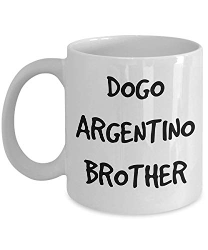 Dogo Argentino Brother Mug - White 11oz 15oz Ceramic Tea Coffee Cup - Perfect For Travel And Gifts 1
