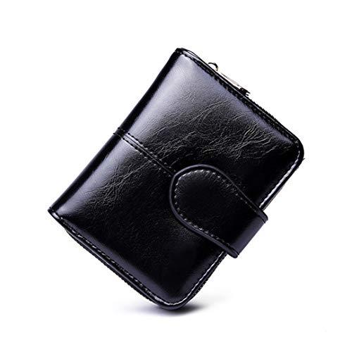 - Vintage Button Phone Wallet Women Female Wallets Big Capacity Zipper Women's Purses Ladies Long Design Clutch Phone Holder Chocolate