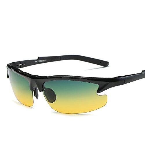 De Y Gafas Día Gafas LLZTYJ Gafas Sol De Antiligas Sol Para Conducir De Polarizadas Gafas La Visión El Regalos Gafas Para Hombres Gafas De B Para dual purpose Decoración Noche San Nocturna V Conducción Sol De De Día 6pzqZxH6