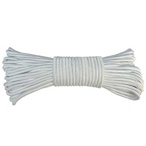 Flag Halyard Rope Solid Braid Polyester Flagpole Line #8 (¼