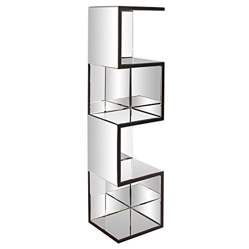 Howard Elliott 99057 Mirrored Shelf with Zig Zag Effect (Glass Mirrored China Cabinet)