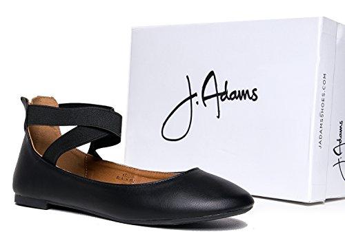 ... J. Adams Elastisk Innlegg Stroppen Slip On - Behagelig Lukket Tå Ballet  - Lav Forstropp ...