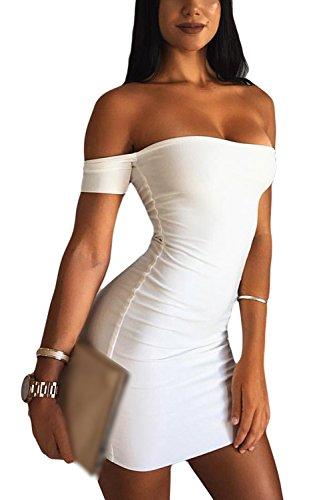White De Sin Verano Slim Fiesta Mujer Vestido Midi Sevozimda La Tirantes Mini Bodycon qWwp6RwOx7