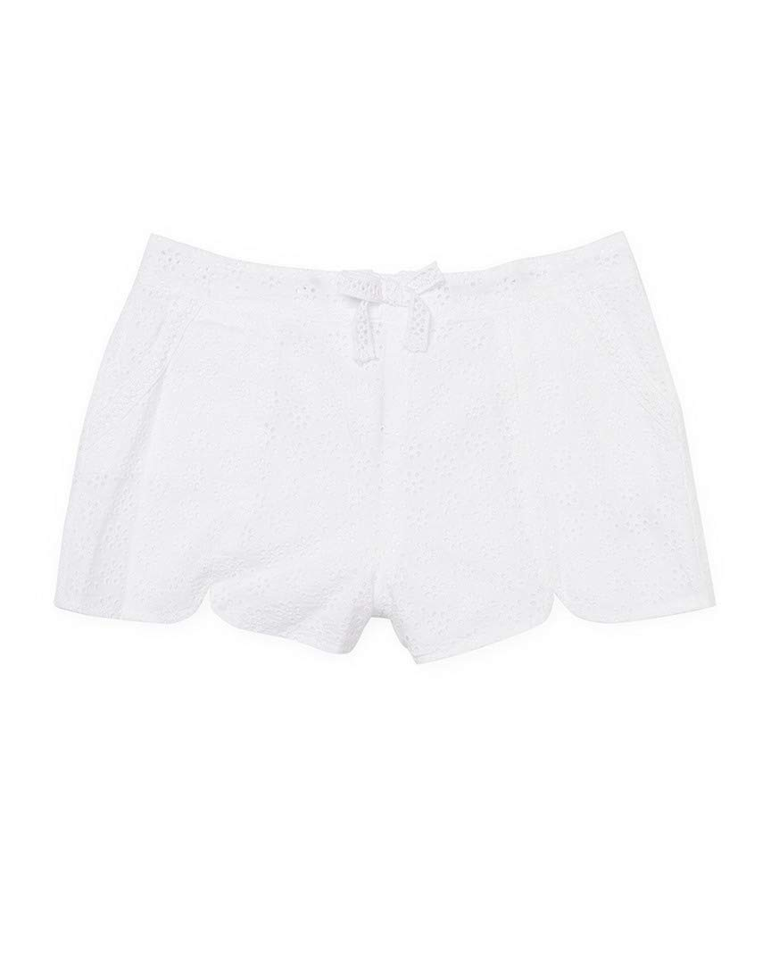 Ella Moss Girl Girl's Tiana All Over Eyelet Shorts (Big Kids) White Shorts