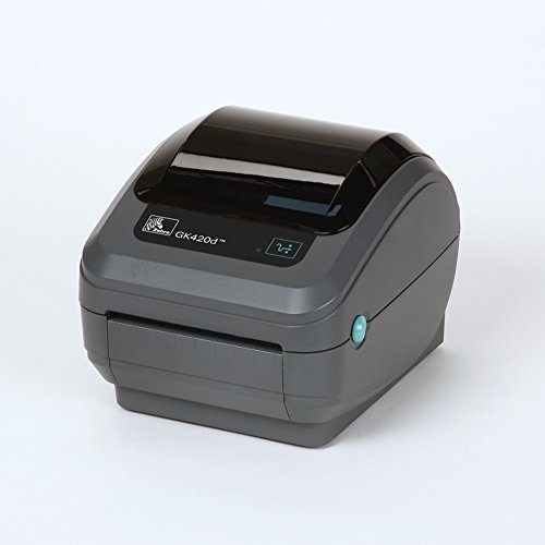 Zebra - GK420d Direct Thermal Desktop Printer for Labels, Receipts, Barcodes, Tags, and Wrist Bands - Print Width of 4 in - USB, Serial, and Parallel Port ()