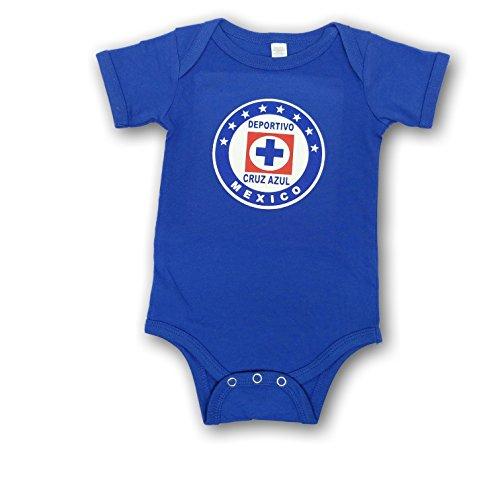 Azul Suit - ESF Cruz Azul Baby Bodysuit Mameluco Jumpsuit Exclusive Design (12-18 Months, Royal Blue)