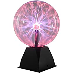 "Unique Gadgets & Toys 8"" Nebula Plasma Ball - Touch / Sound Sensitive Novelty Lamp"