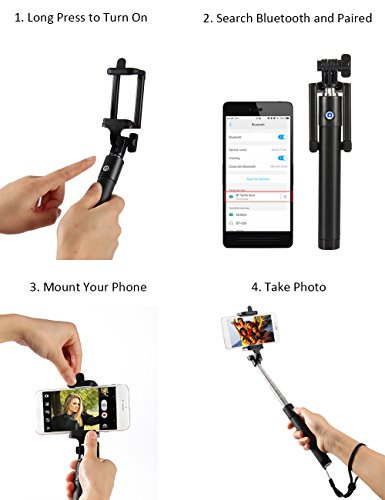kungfuren selfie stick bluetooth 50 hour long battery life and japanese seiko pcb protection. Black Bedroom Furniture Sets. Home Design Ideas